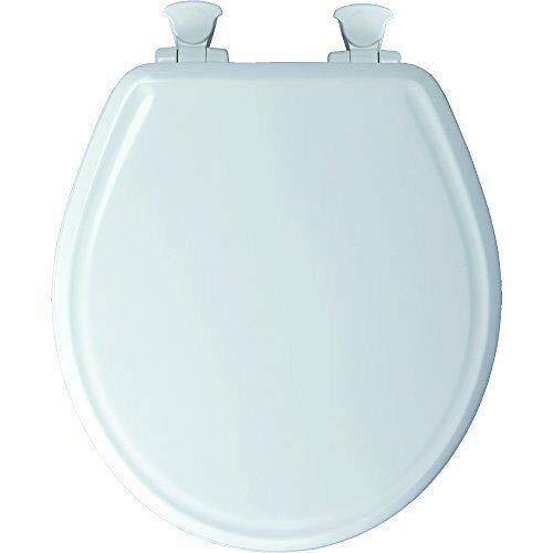 Lift-Off Hinges, Round, White Mayfair 48E2 000 Slow-Close MoldWood Seat Toilet