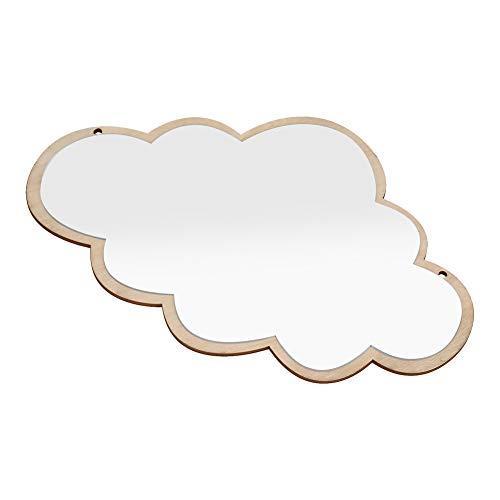 Espejo habitación niños, Espejo acrílico nórdico Decorativo Etiqueta de la Pared calcomanía niños niños Arte decoración (Cloud)