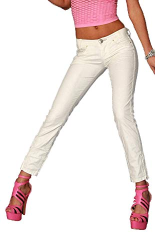Killah Damen Hose Twiddle Gold Trousers 3/4 Hose hellgrau W31