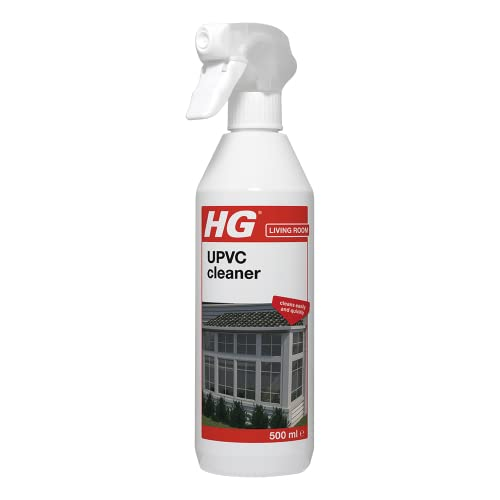 HG 507050106 UPVC Powerful Cleaner 500 ml - For All Synthetic Materials Against Dirt-Without Damaging The Surface, White