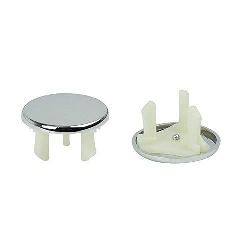 Maddy Badkamer Accessoires Sets - 1st ronde overloop deksel netjes trim chroom badkamer wastafel reserve vervanging geschikt voor alle keramische potten overloop ring gen 1 PC's