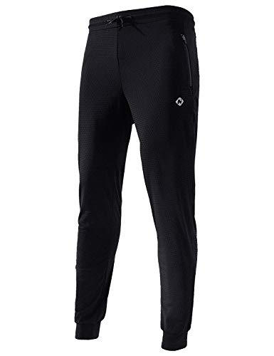 Naviskin Boy's Running Pants Youth Tapered Training Track Pants Athletic Workout Jogger Sweatpants Black Size S