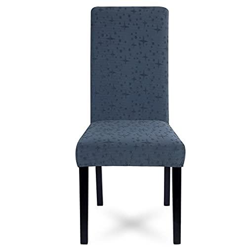 Cutle 1/2/4 / 6Pcs Pattern Jacquard Stuhlbezug Spandex Dining Room Abnehmbarer Stuhlbezug Elastic Washable Thick Stretch Sitzbezug G324856 2PCS
