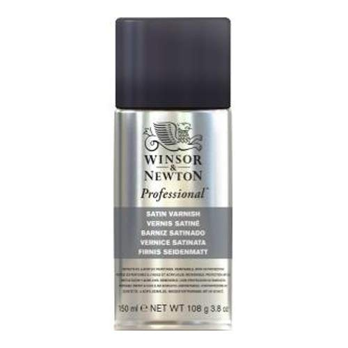 Winsor & Newton 3034984 Ölmalmittel, Professional Firnis Seidenmatt, 150 ml Spray, ein hochwertiger UV beständiger seidenmatter Künstlerfirnis