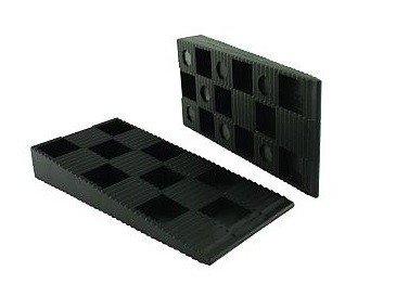 ToniTec Montagekeile 500 Stk 94x43x14 mm schwarz Kunststoff | Fenster- und Türenmontage | Laminat verlegen