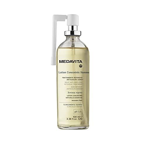 Medavita - Lotion Concentrée Homme - Trattamento Intensivo Anticaduta Uomo Spray Ph 3.5, Bianco, Officinale, Balsamico, 100 Millilitri