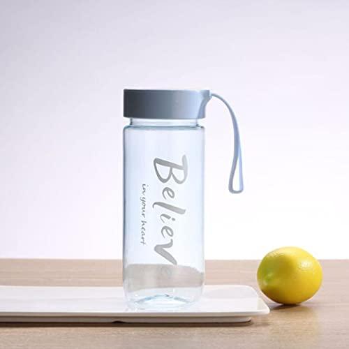 RichAmazon Botella de agua portátil para batidora de jugo de batido de proteína en polvo Shake Cup Home Stirring Shake Cup con bola de agitación-B transparente azul