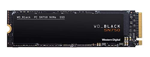 WD Black SN750 High-Performance NVMe Internal Gaming SSD, 250 GB