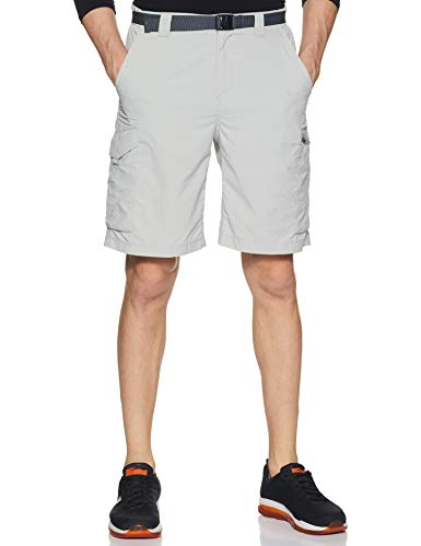 Columbia Men's Silver Ridge Cargo Short, Cool Grey, 32 x 10