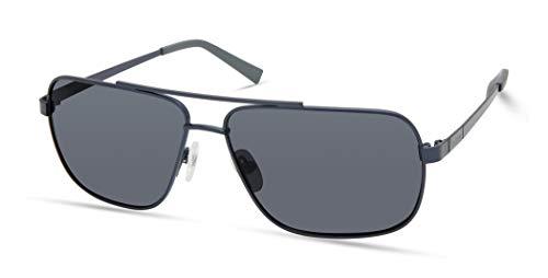 Timberland Gafas de sol para hombre Tba9266 Navigator, Azul satinado,