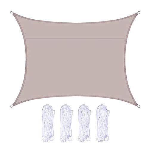 æ— Toldo de tela de tela con ángulo recto, de 9,8 x 13,1 pies, para piscina, balcón, terraza y viaje de camping con 4 cuerdas para toldo de cochera de jardín