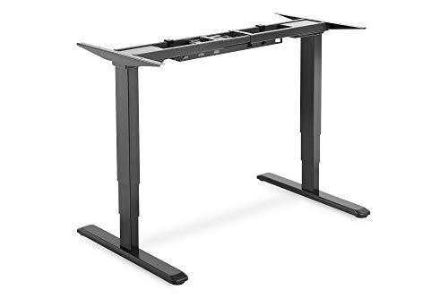 DIGITUS Schreibtisch-Gestell - Elektrisch Höhenverstellbar - Ergonomischer Steh/Sitz Schreibtisch-Unterbau - Schwarz