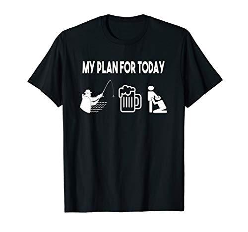 Wurm Fischen Angelrute Kaffee Angeln Bier Angler T-Shirt