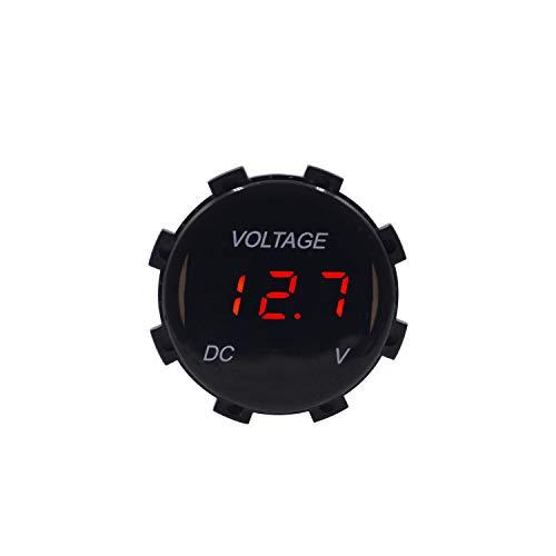 USB y voltaje del coche Mini voltaje de visualización Mini voltímetro impermeable, voltímetro digital 12V LED, probador de batería de automóvil, monitor de batería 12V, adecuado for motocicletas de au
