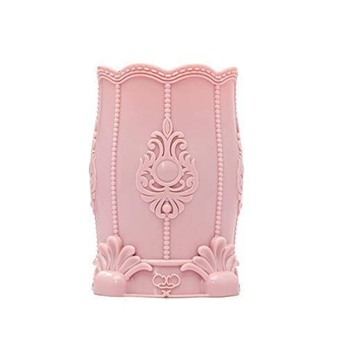 JUZEN Support de Brosse de Maquillage, Trousse de Rangement Brosse de Maquillage, Multi-Fonction Stylo Porte, Organisateur de Brosse de beauté, pour Coiffeuse, Table ou Table,Pink