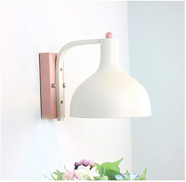 FuweiEncore Einfache Wandleuchte des koreanischen Stils Moderne kreative Individualitt führte Wand der Flurschlafzimmerkinder, puderwei + DREI-farbige LED