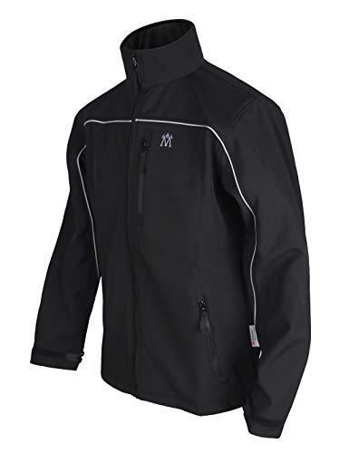 Men's Climbing Jacket Warm Fleece Windproof Outdoors Tactical Softshell Black XL
