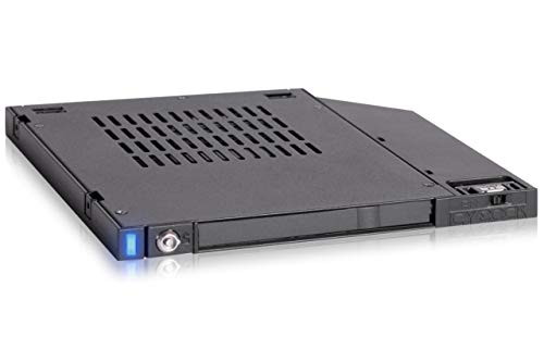 ICY DOCK FlexiDOCK MB511SPO-1B 2.5インチ SATA SSD/HDDドッキングセカンドSSD HDDアダプターキャディケース 9.5mm CD/DVD-ROM ウルトラスリム光学ベイドライブスロット用