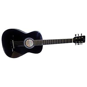 Pluto HW34-101 34-inch Acoustic Guitar (Black) 10