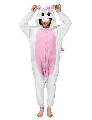 Muy Chic Mailanda - Pijama unisex para disfraz, disfraz unicornio rosa L
