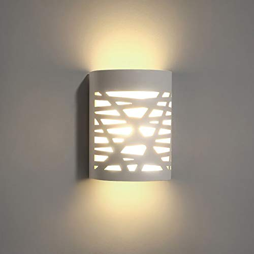 TRLIFE White Wall Sconce, LED Wall Sconce 9W 3000K Warm White Sconce Wall Lighting, LED Wall Sconce with Frosted Cover for Bedroom Hallway Stairway Porch Office Hotel (with 9W G9 LED Bulb)