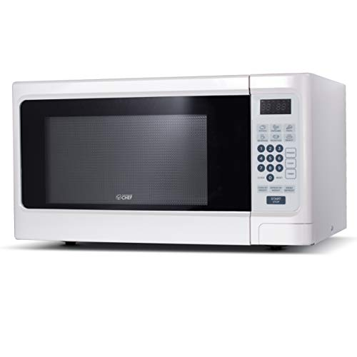 Commercial Chef CHCM11100W Countertop Microwave, White