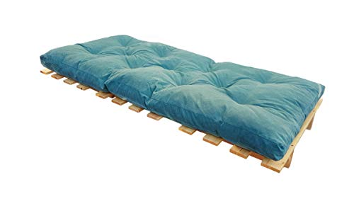 Erst-Holz® Knickliege Faltbett wie eine Gästeliege aus Massivholz Wahlweise mit oder ohne Auflage V-60.49-09, Ausstattung:mit Auflage