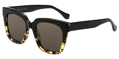 Firmoo solglasögon stora polariserade för kvinnor och män, vintage solglasögon UV400-skydd, stora speglade solglasögon med polariserade glas bländskydd, hörnlig glasyta