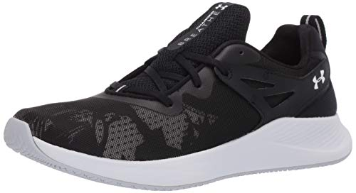 Under Armour Women's Charged Breathe TR 2.0+ Cross Trainer, Black (001)/White, 9.5 M US