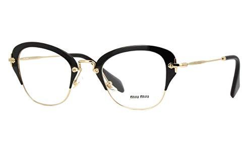 Miu Miu - NOIR VMU53O, Schmetterling, Metall, Damenbrillen, BLACK(1AB-1O1), 50/24/140