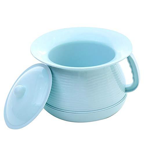 Urine emmers, plastic kwispedoren met deksels voor mannen en vrouwen 's nachts, baby eenvoudige deodorant urinoirs verdikt voor volwassenen, draagbare potje,Blue