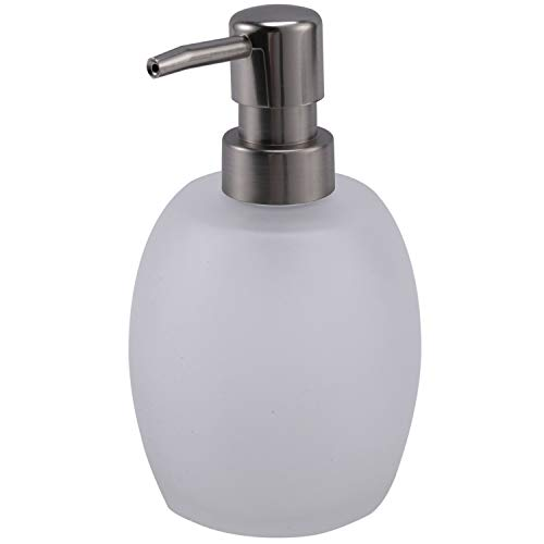 HLPIGF Dispensador de Jabón para Baao Cabeza de la Botella de Vidrio Cabeza de Metal Bomba Loción Envase Botella Dispensador de Jabón Líquido 15 Oz