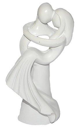 alles-meine.de GmbH 3-D Figur Hochzeitspaar Modern 10 cm - Tischdeko zur Hochzeit Deko - Brautpaar z.B. für Torte Tortendeko Tortenfigur Figur Braut und Bräutigam