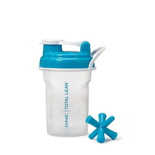 GNC Total Lean Shaker Cup | for On The Go Protein or Meal Replacement Drinks, Includes Mixing Jack | Blue |