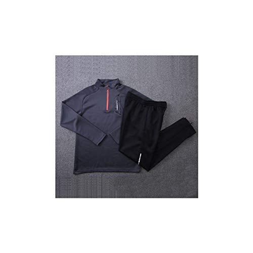 Voetbal training kleding voor mannen en vrouwen grijze jersey, kinderen sport panty's passen fitness training voetbal training kleding polyester polyester materiaal (S-4XL)