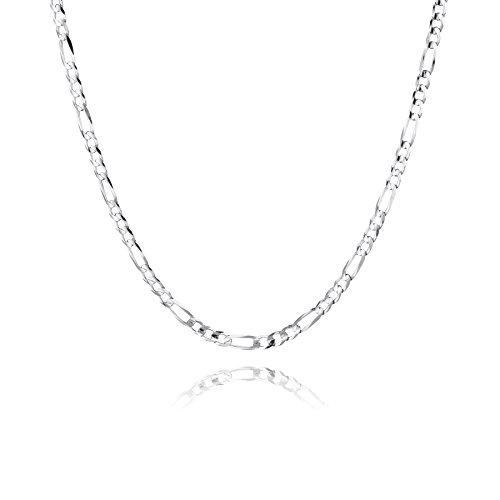 STERLL Herren Halskette Silber 925 55 cm Ohne Anhänger Geschenkverpackung Männer Geschenke