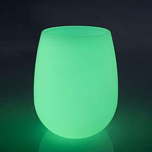 4 Pack Silicone Wine Glasses – Glow in The Dark Cups (12 oz / 350 ml)