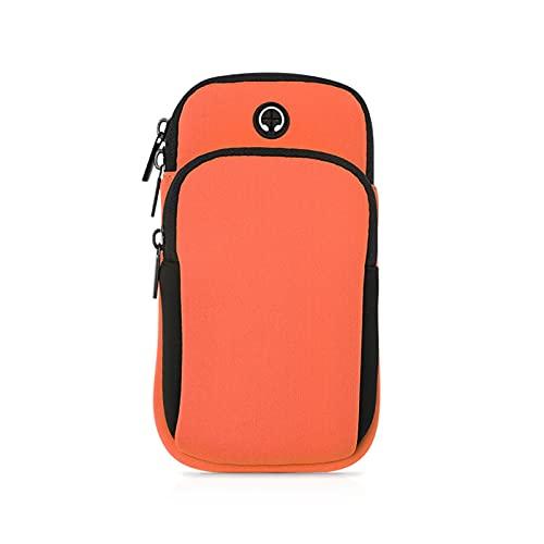 Bolsa para correr Running Men Mujer Bolsos de brazo para teléfonos Llaves de dinero de deportes al aire libre Brazo de deporte Bolsa con agujero auricular a mano para iPhone 11 Pro Max Portátil