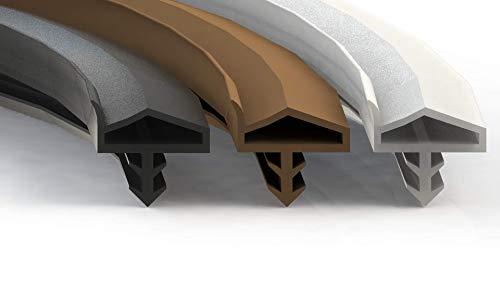 Premium Türdichtung Weiß - Gummidichtung für Türen & Fenster - Universal passend für jede Tür & Fenster - Zimmertürdichtung - Flügelfalzdichtung & Stahlzarge 15 Meter Dichtung