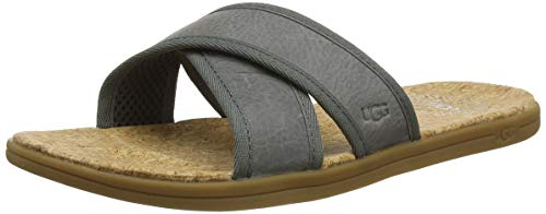 UGG Herren Seaside Slide Sandale, Seal, 43 EU