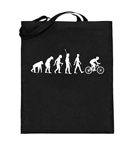 Chorchester Evolution der Radfahrer für Fahrrad Fans - Jutebeutel (mit langen Henkeln)