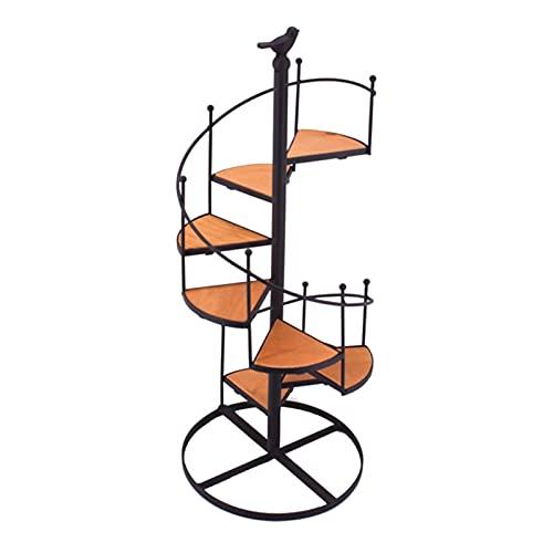 ZHANGJINYISHOP2016 Florero de hierro de múltiples capas escalera giratoria macetas Bonsai marco planta estante estante balcón sala de estar interior y exterior