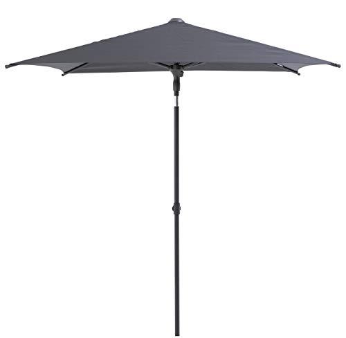 SORARA Balcon | Parasol de Jardin | Gris Clair | 160 x 200 cm | Mécanisme de soulèvement et d'inclinaison | sans Base