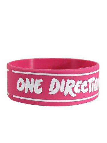 One Direction - Pulsera de silicona para coleccionistas (ancho: 24 mm, diámetro: 65 mm, grosor: 1 mm)