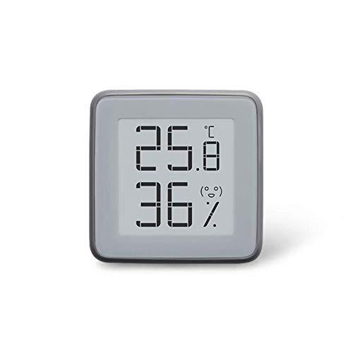 QFWM Alarm ClockSmart termómetro Bluetooth higrómetro funciona con herramientas de gadget casero de luz nocturna regulable