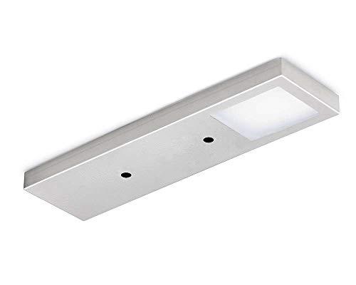 Naber Six LED sans Interrupteur edelstahlfarbig. Sol Lampe. avec éclairage LED Surfaces. sans Visible Points. LED 2,5 W, 12 V, 4000 K Blanc Neutre – 85 lumens/W – 2000 mm Câble