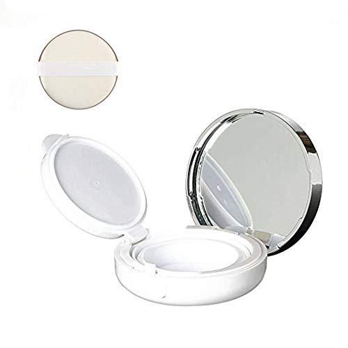 1 boîte à coussin d'air portable 15 g blanc vide haut de gamme pour BB CC Crème Lotion liquide Support de stockage pour fond de teint avec éponge et miroir Maquillage DIY Outil de beauté