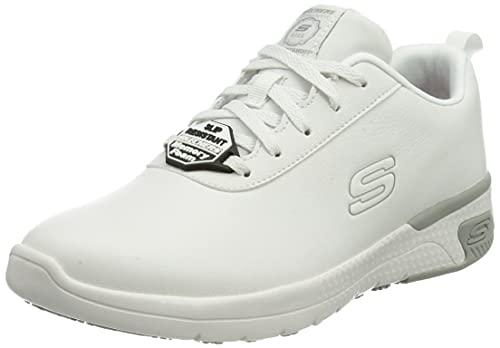 Skechers MARSING GMINA, Zapatos para Profesionales Sanitarios Mujer, Blanco, 40 EU