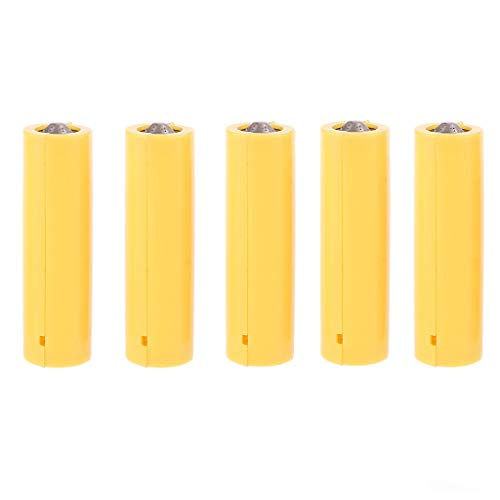 5Pcs AA AAA Size Dummy Fake Battery Setup Shell Placeholder Cylinder Conductor (AA)