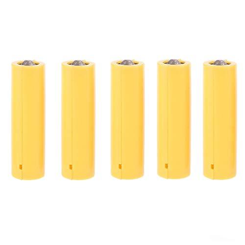 5Pcs Dummy Batterie AA AAA Größe Batterie Setup Shell Platzhalter Zylinderleiter Batteriehalter
